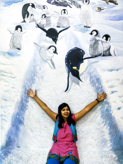 One with the penguins!