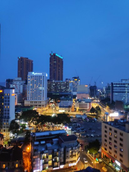 The bright KL city view from our apartment