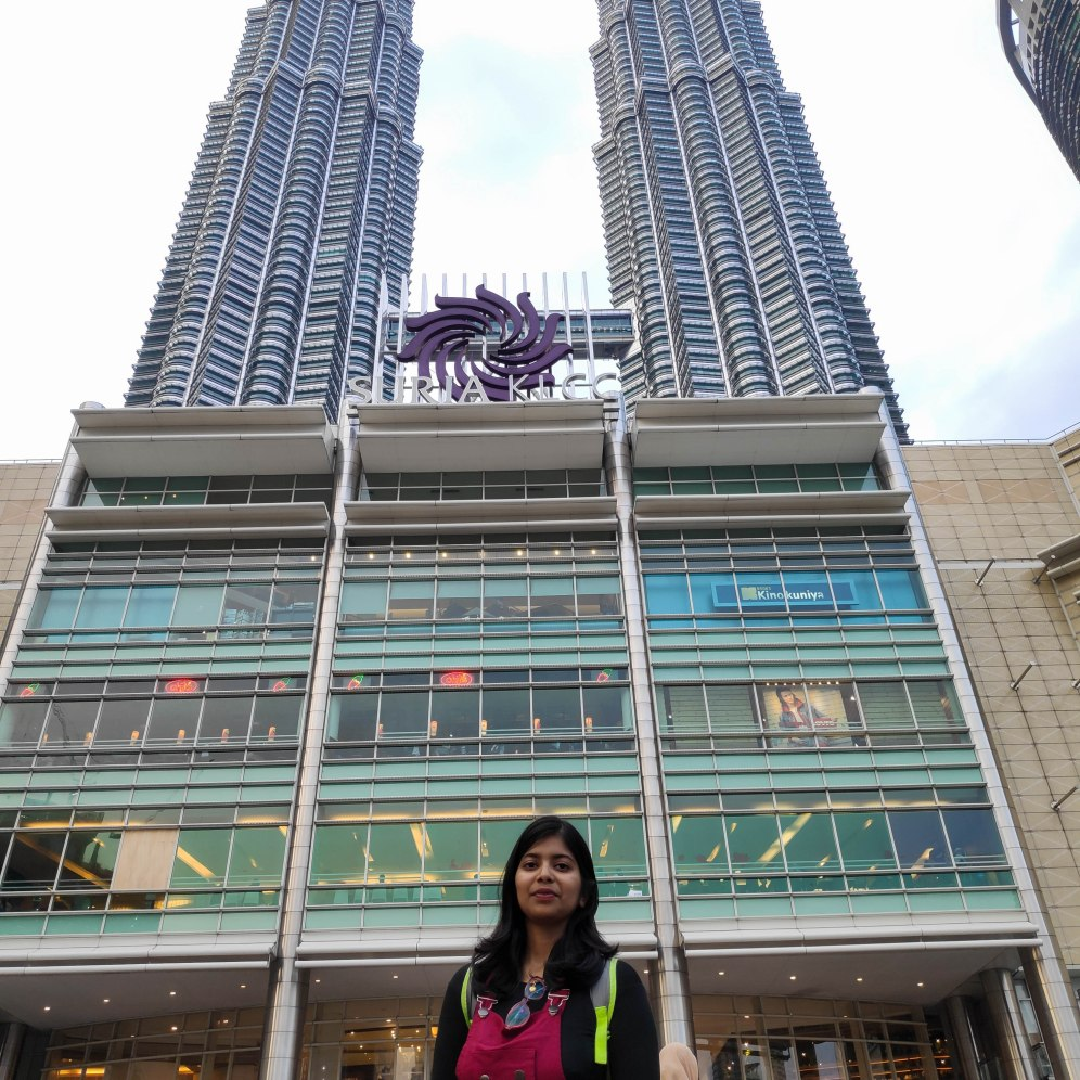 Suria KLCC and Petronas twin towers in the background