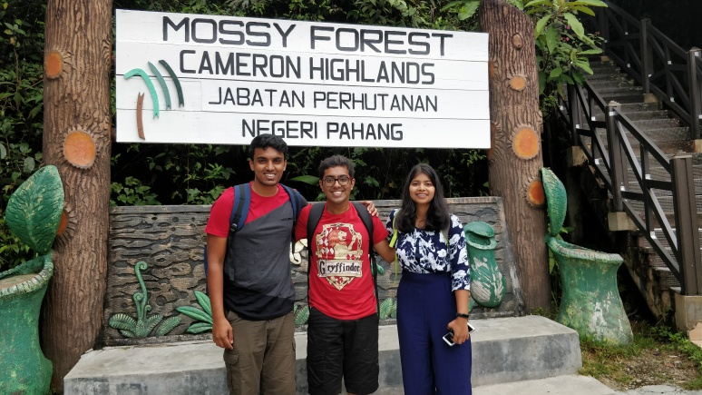 A mandatory picture near the sign board